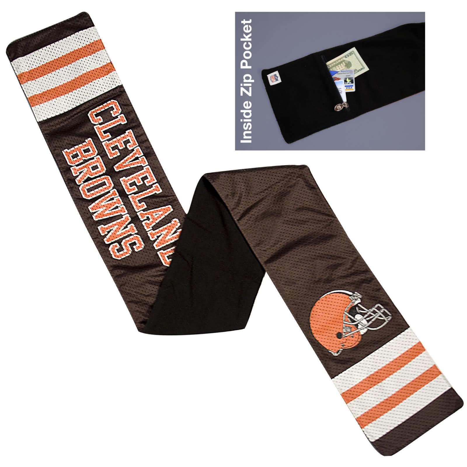 Little Earth Cleveland Browns Jersey Scarf
