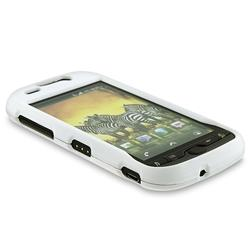 White Rubber Coated Case for HTC T-mobile myTouch 4G - Thumbnail 2