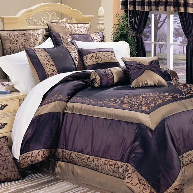 Ventura Eggplant Full Size 20 Piece Bed In A Bag Set