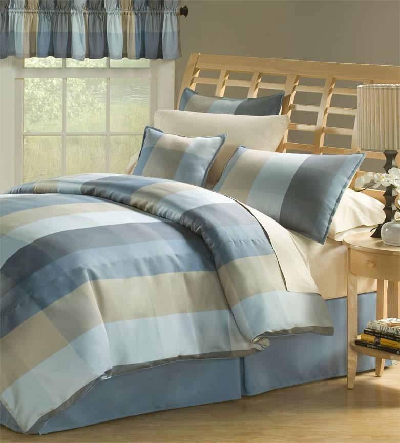 Neapolitan Blue Full-size 8-piece Comforter Set