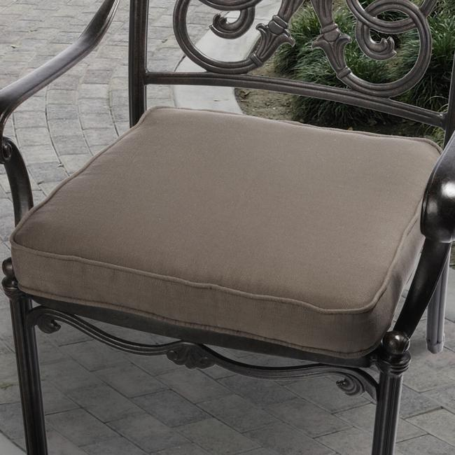 Kate Brown Outdoor Cushion with P. Kaufmann Fabric