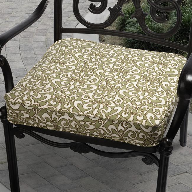 Isabella Verti Green Outdoor Cushion with Richloom Fabric
