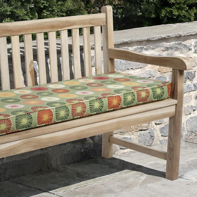 Isabella 48-inch Outdoor Beringer Green Bench Cushion with Richloom Fabric