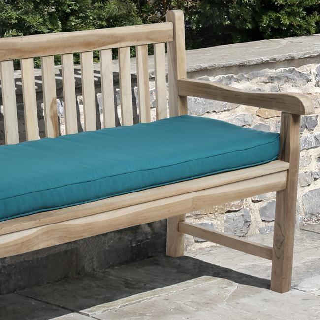 Clara 48-inch Outdoor Teal Blue Bench Cushion Made with Sunbrella