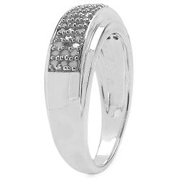 Malaika Sterling Silver 1/3ct TDW Diamond Ring (I-J, I2-I3) - Thumbnail 1