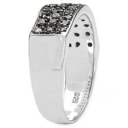 Malaika Sterling Silver 1/3ct TDW Black Diamond Ring - Thumbnail 1
