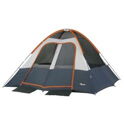Mountain Trails 'Salmon River' 2-room Dome Tent - Blue/Orange