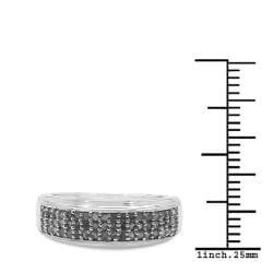 Malaika Sterling Silver 1/3ct TDW Diamond Ring (I-J, I2-I3)