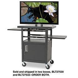 Balt Two Shelf Height-Adjustable Flat Panel TV