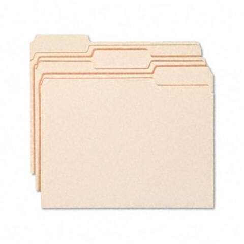 Smead WaterShed/CutLess File Folders- 1/3 Cut-