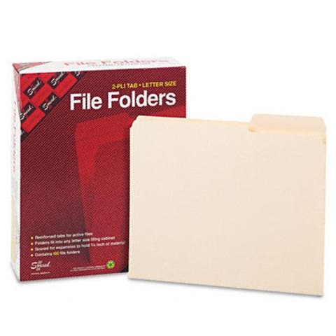 Smead Guide Height Folder- 2/5 Cut Right-