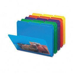 Smead Slash Pocket Poly File Folders- 1/3 Cut-