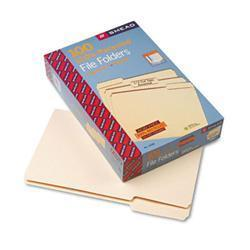 Smead 100 Recycled File Folders- 1/3 Cut- 1-Ply
