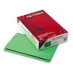 Smead File Folders- Straight Cut- Reinforced Top