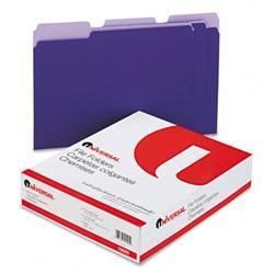 Universal Colored File Folders- 1/3 Cut- One-Ply