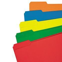 Universal Colored File Folder- 1/3 Cut Assorted-