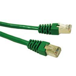 C2G-25ft Cat5e Molded Shielded (STP) Network Patch Cable - Green