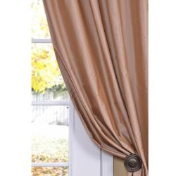 Exclusive Fabrics Dusty Pink Faux Silk 84-inch Curtain Panel - Thumbnail 1