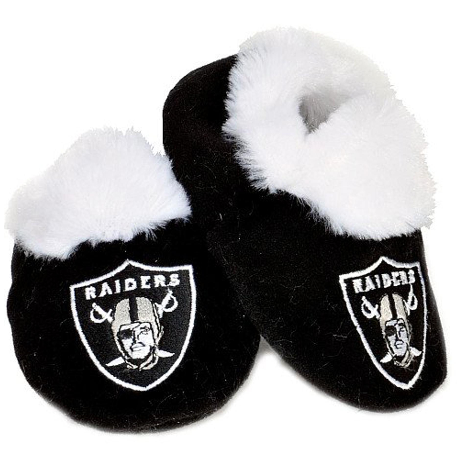 c6df936b671f Shop Oakland Raiders Baby Bootie Slippers - Free Shipping On Orders Over   45 - Overstock - 5915946