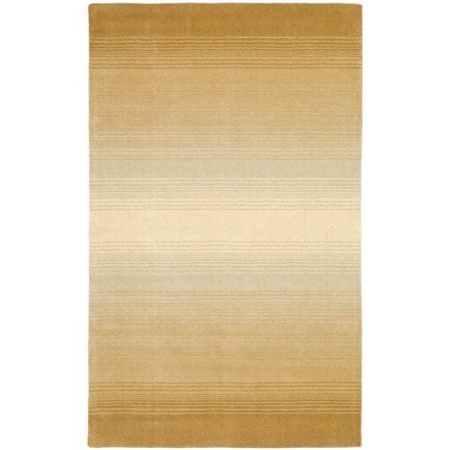 Martha Stewart by Safavieh Ombre Gradient Gold Wool Rug (9' x 12')