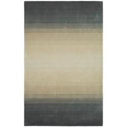 Martha Stewart by Safavieh Ombre Gradient Pewter/ Grey Wool Rug (9' x 12')