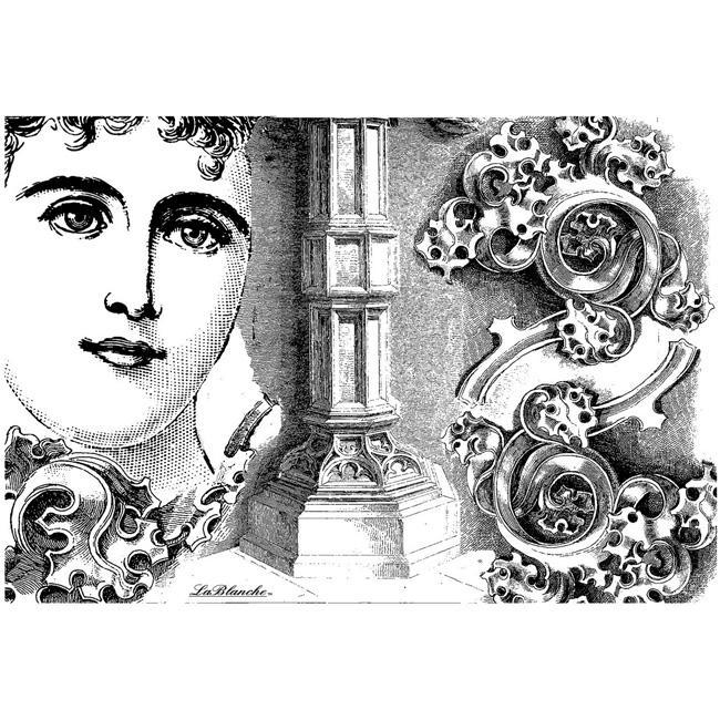 LaBlanche Face with Column Collage Silicone Stamp