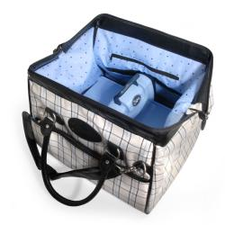 Sizzix Black, Cream and Periwinkle Plaid Doctor's Bag