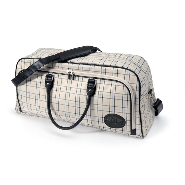Sizzix Eclips Black, Cream and Periwinkle Plaid Tote