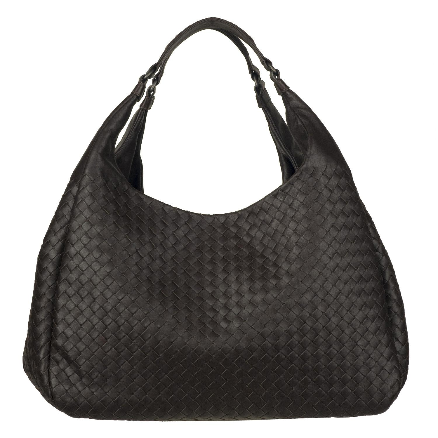 Bottega Veneta Campana Intrecciato Woven Leather Hobo Bag