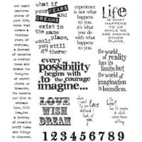 Tim Holtz Large 'Stuff 2 Say' Cling Rubber Stamp Set