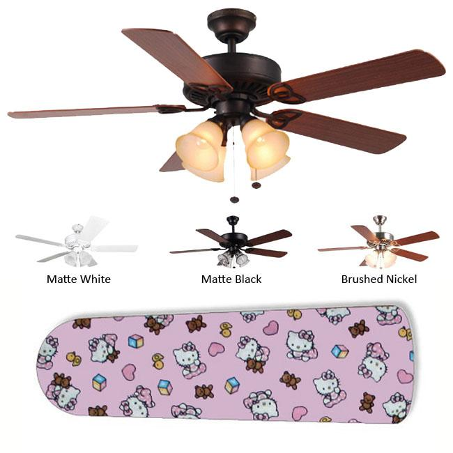 New Image Concepts 4 Light Hello Kitty Blade Ceiling Fan