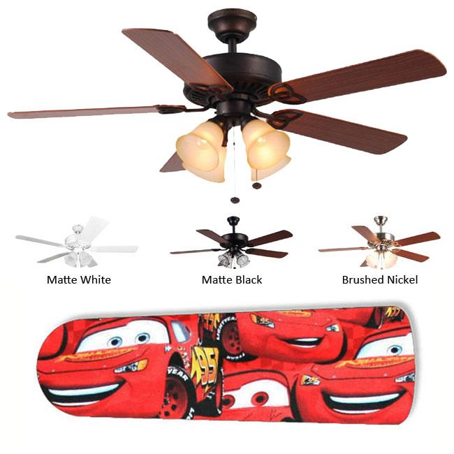 New Image Concepts 4-light 'Cars' Lightning McQueen Blade Ceiling Fan - Thumbnail 0