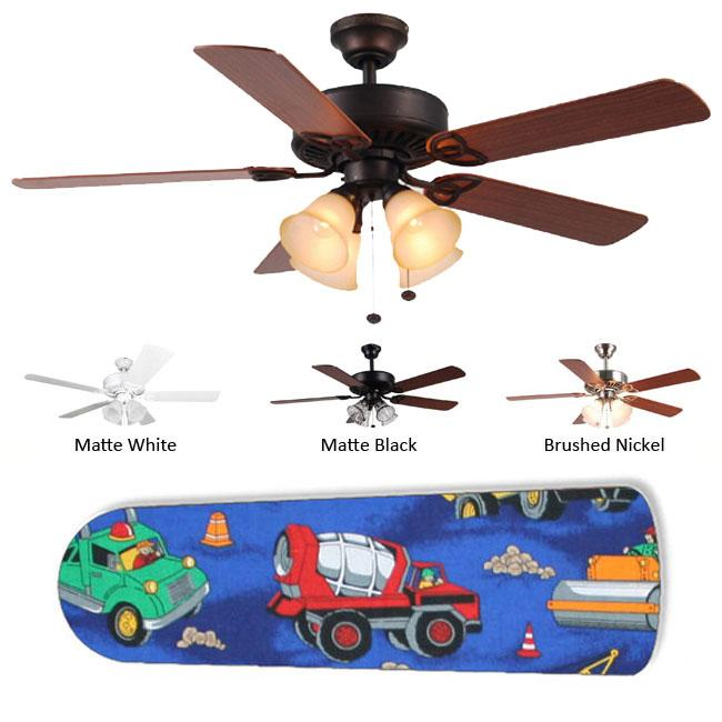 Copy of New Image Concepts 4-light Construction Truck Blade Ceiling Fan