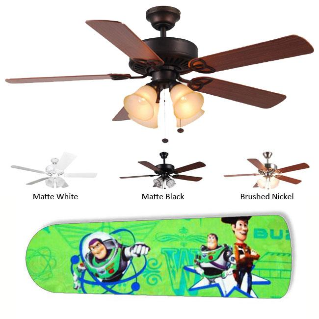 New Image Concepts 4-Light Buzz and Woody Ceiling Fan