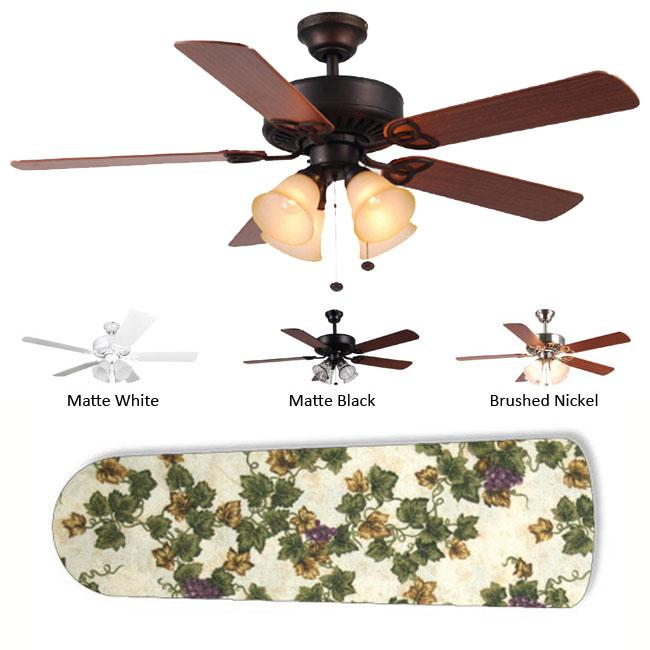 New Image Concepts 4-Light Grapes Ceiling Fan