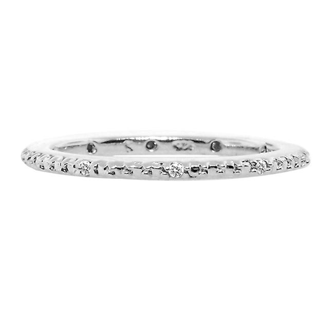Sterling Silver Diamond Accent Stackable Ring
