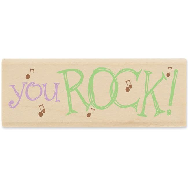 House MouseYou Rock Rubber Stamp