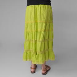 Provogue Women's Lace-detailed Peasant Skirt - Thumbnail 1