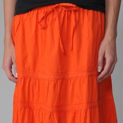 Provogue Women's Lace-detailed Peasant Skirt - Thumbnail 2