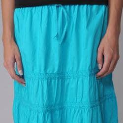 Provogue Women's Lace-detailed Peasant Skirt