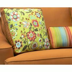 Joliet Burnt Orange Fabric Sofa and Loveseat