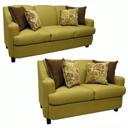 Lansing Lime Green Fabric Sofa And Loveseat Free Shipping Today 13642010