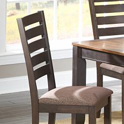 Nolan Espresso/Chenille Side Chairs (Set of 2)