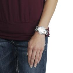Geneva Platinum Women's Zebra Cuff Watch - Thumbnail 2
