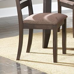 Nolan Espresso/Chenille Dining Chairs (Set of 2)