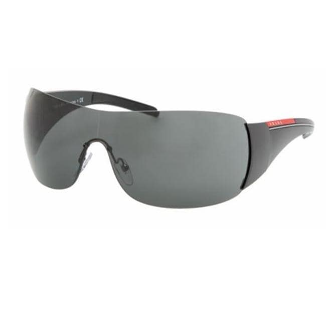 c647a4d6c5 Shop Prada Sport PS 02LS Black Shield Sunglasses - Free Shipping Today -  Overstock - 5947161