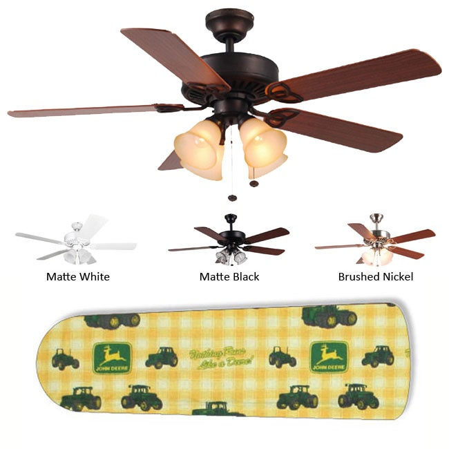 New Image Concepts 4-Lamp 'John Deere' Ceiling Fan - Thumbnail 0