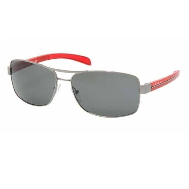 Prada Sport PS50LS Gunmetal/Red Sport Sunglasses