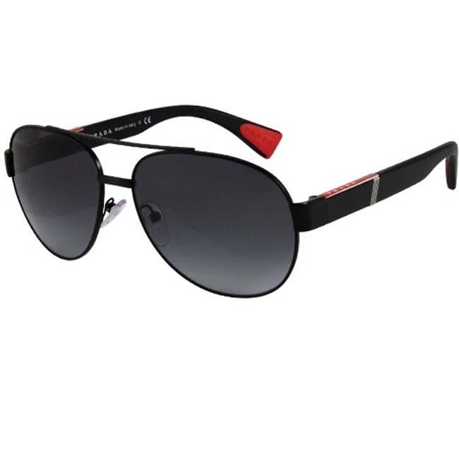 1a00c7011089 Shop Prada Sport PS52MS Black Aviator Sunglasses - Free Shipping Today -  Overstock - 5947340