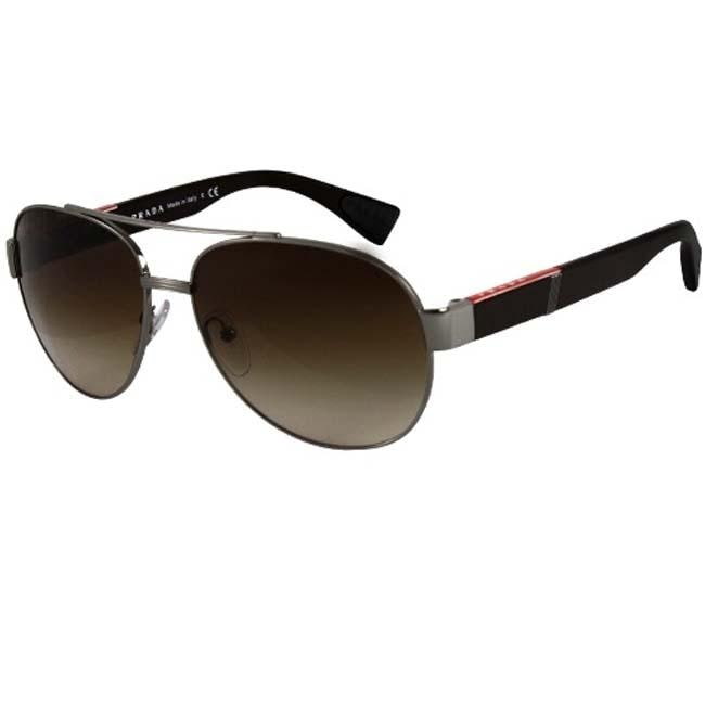Prada Sport PS52MS Brown Aviator Sunglasses